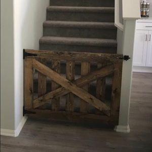 Handmade wood baby/pet gate